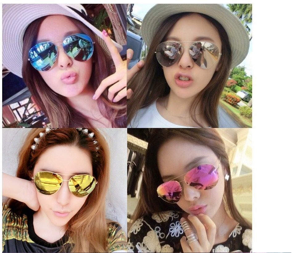 448d57e57 Victoria Beckham Classic Aviator Sunglasses (Full Rim) 62mm งาน Top Mirror/  Hiend 1:1. Color : Platinum / Fuchsia (Pink) เลนส์ถนอมสายตา UV400  อุปกรณ์ครบเซท